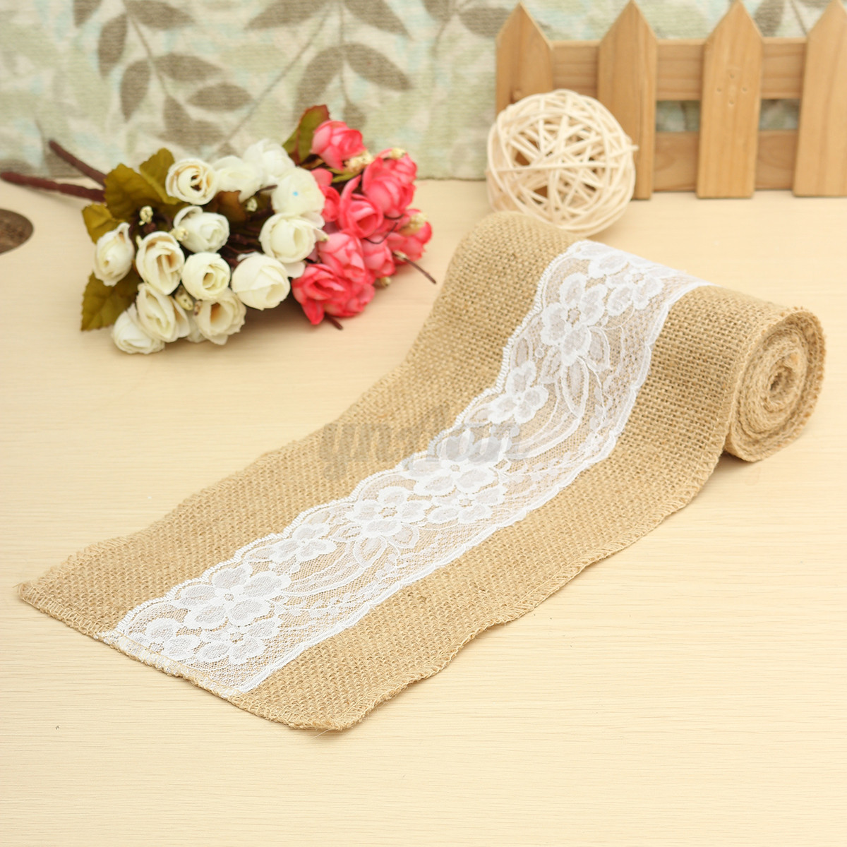 burlap chair sashes medical high 15 x 240cm vintage hessian jute lace