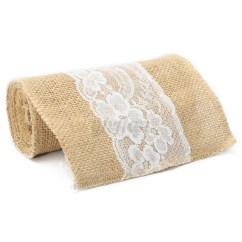 Burlap Chair Covers Wedding Pittsburgh Steelers 15 X 240cm Vintage Hessian Jute Lace Sashes