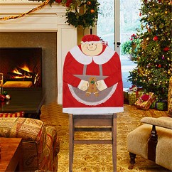 Dollarama Christmas Chair Covers Ergonomic No Arms Mr And Mrs Santa Claus Back Cover Dinner
