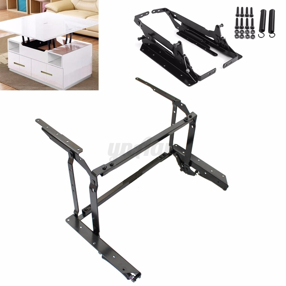 sofa bed mechanism dark grey ideas 1pair diy lift up top coffee table furniture