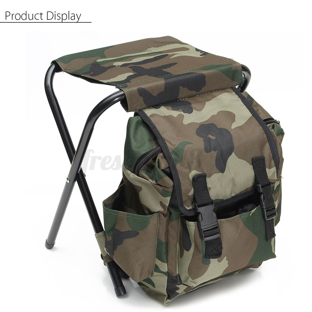 fishing chair box painted oak pressed back chairs outdoor tackle backpack bag camping foldable