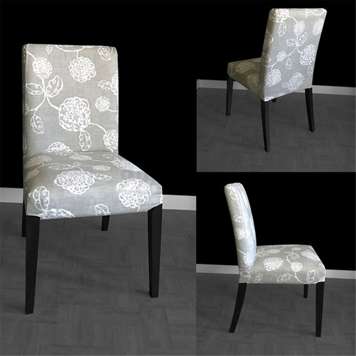 chair seat covers with elastic leather chairs gray universal cover high