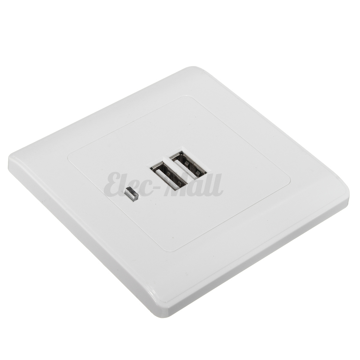 Dual USB Port Wall Socket Charger AC Power Receptacle