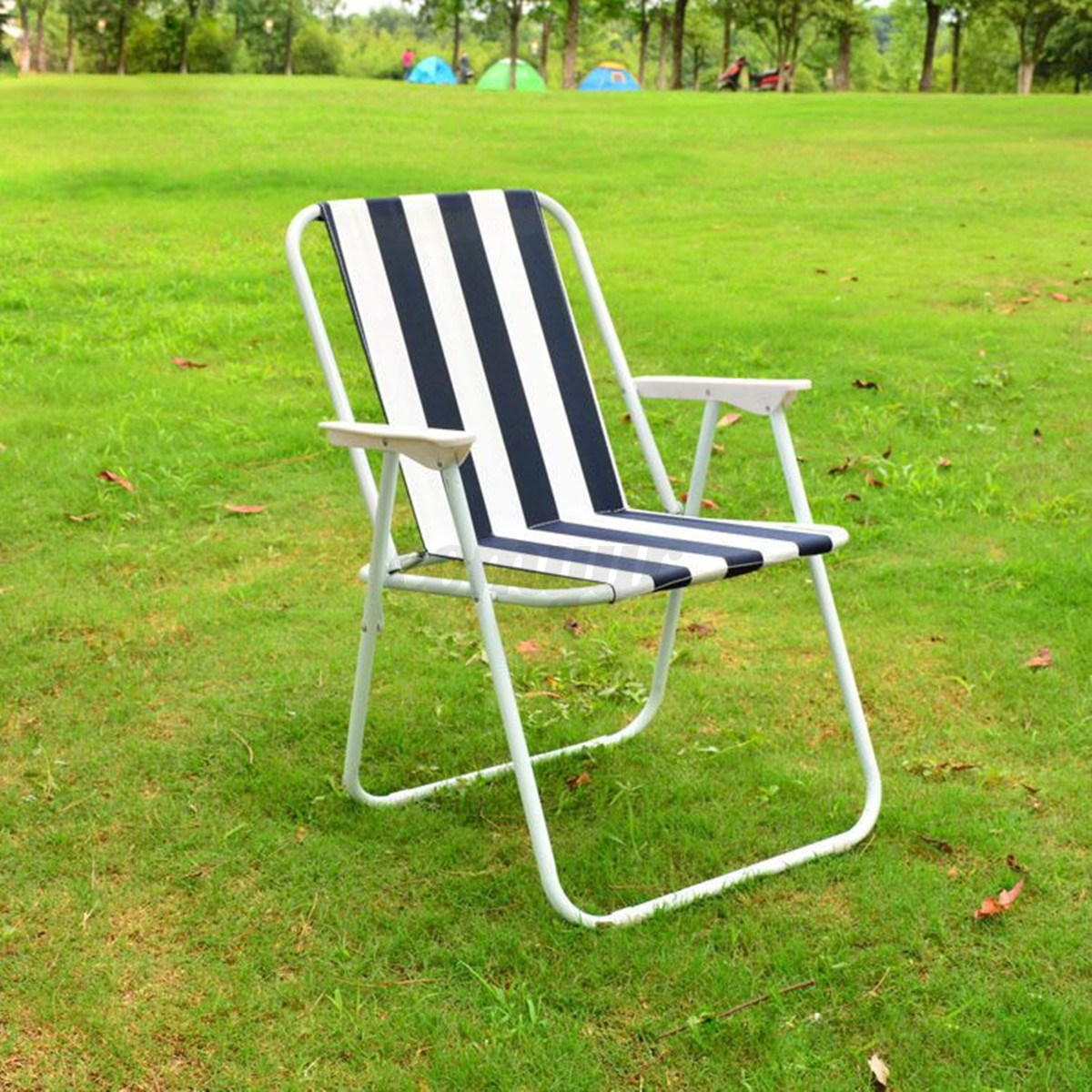 fishing ladder chair accent bedroom chairs folding striped stool garden deck seat for