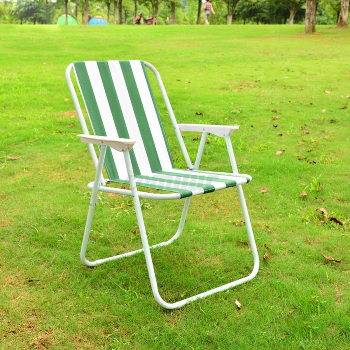 fishing ladder chair glider or rocking folding striped stool garden deck seat for