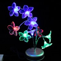 Lily Flower Tree Branch Night Light Table Lamp Multicolor ...