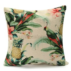 Tropical Sofa Throw Cover The Store Sale Banana Green Leaves Linen Cushion