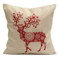 Top 28 - Christmas Deer Throw Pillow By - abstract ...