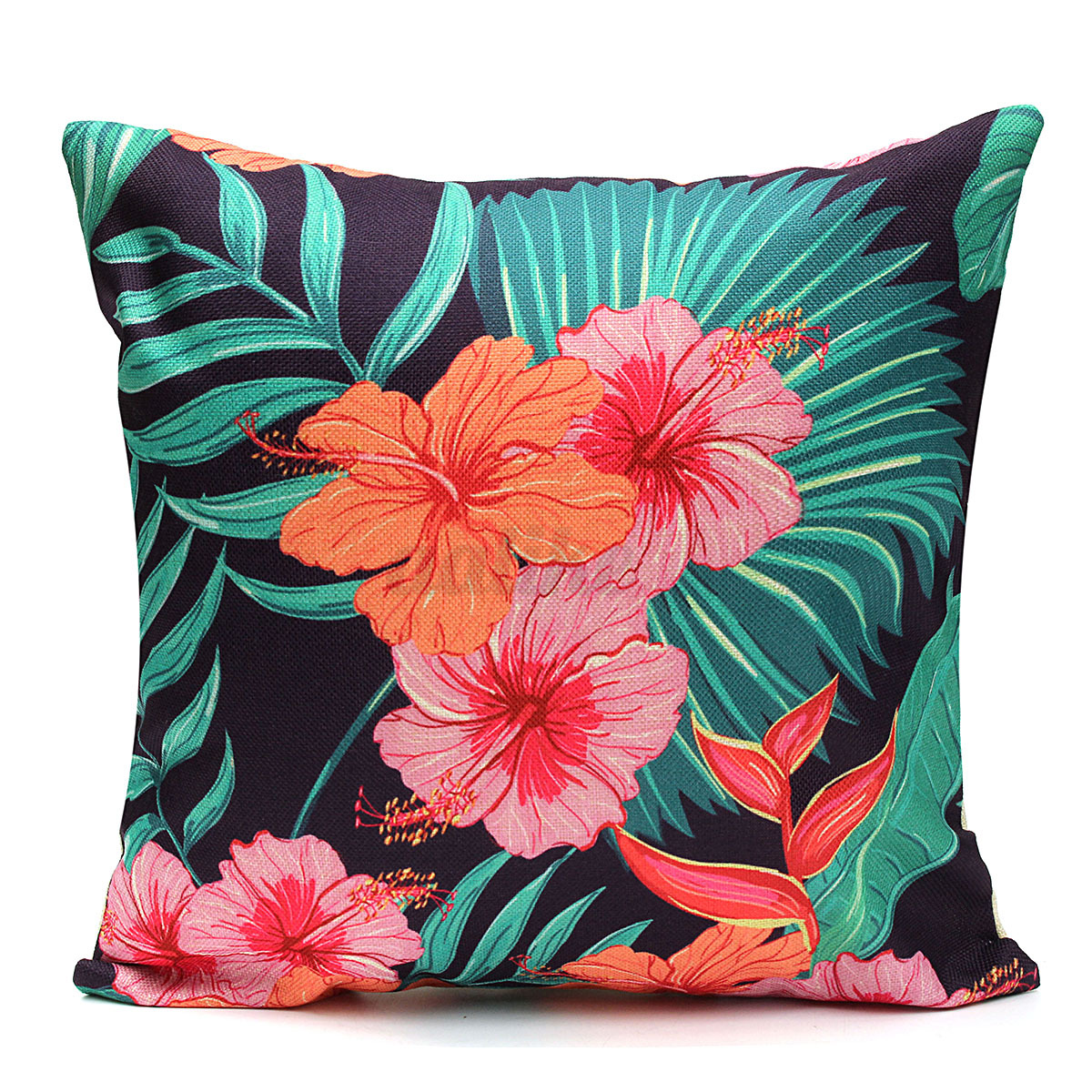 tropical sofa throw cover table with shelves new ocean plant pillow case bed waist