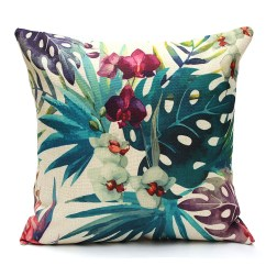 Tropical Sofa Throw Cover Leather Sofas Atlanta New Ocean Plant Pillow Case Bed Waist