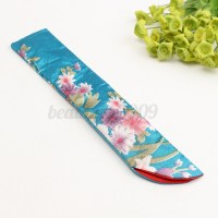 Japanese Chinese Silk Folding Hand Fan Bag Floral ...