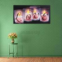 Christmas LED Light Up Luminous Framed Canvas Painting ...