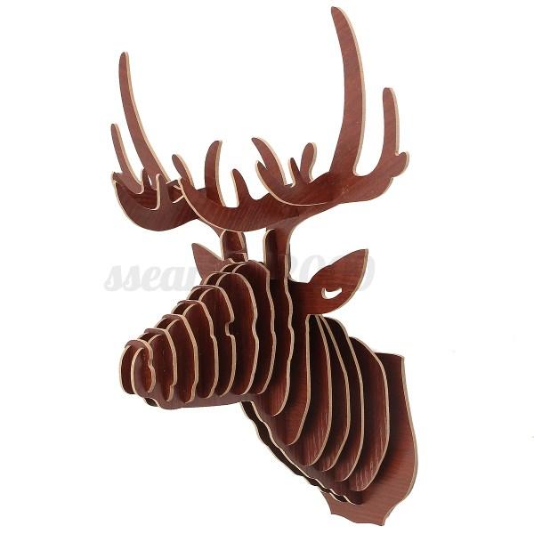 3D Wood Animal Head Puzzle