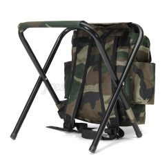 Fishing Chair Box Grey Material Office Outdoor Tackle Backpack Bag Camping Foldable