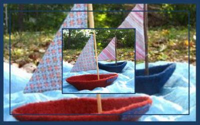 Petit bateau en tricot feutré