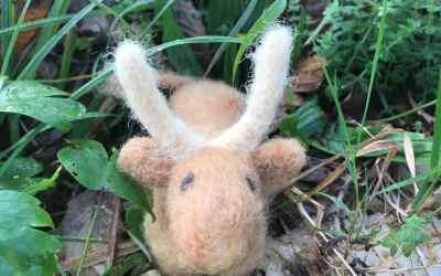 Jour 8 : réaliser un boeuf en laine feutrée à l'aiguille