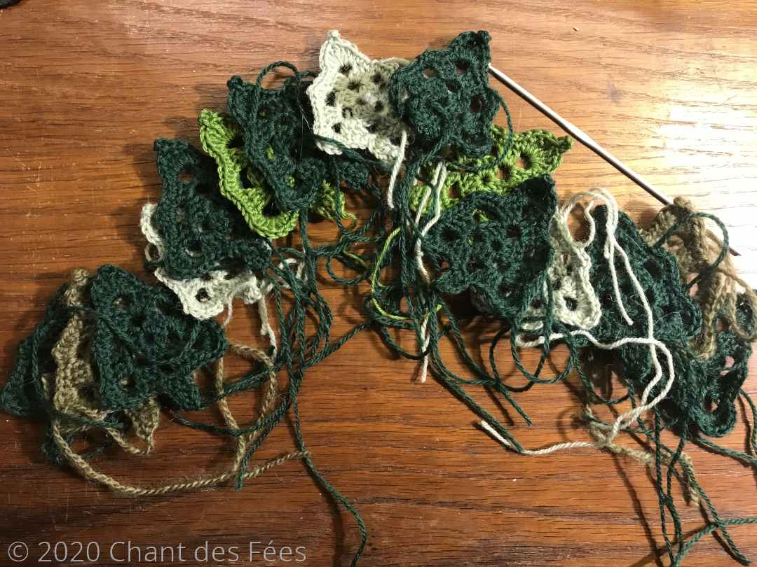 sapins crochetés