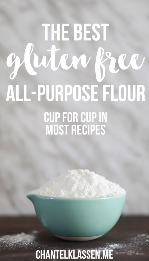 The Best Gluten Free All-Purpose Flour Mix - it can be used cup for cup to replace regular flour in most recipes!