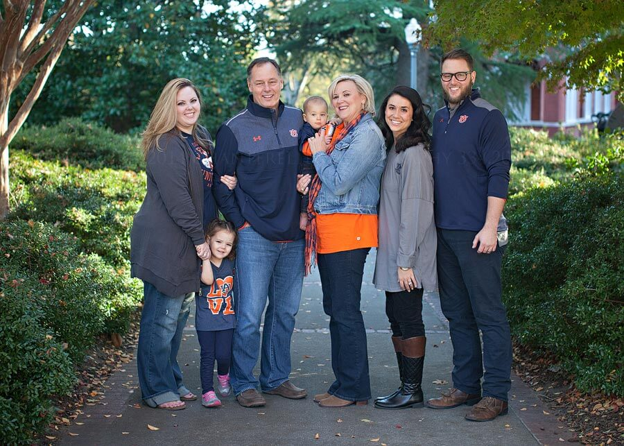 Family portraits by Julie Lowry at Auburn University in Alabama