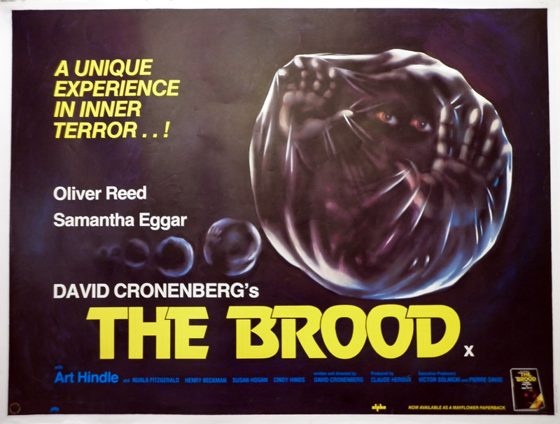 Tom Chantrell Posters | The Brood Quad Poster, 1979