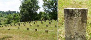 Le cimetière. Images extraites du site Grave Addiction.