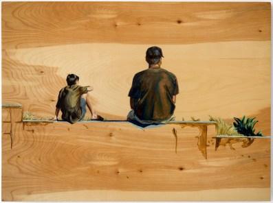 Rocky Point, 2015 oil on birch 22 x 29.5 in. SOLD