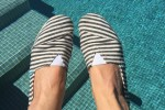 Paez espadrilles shoes in black and white stripes