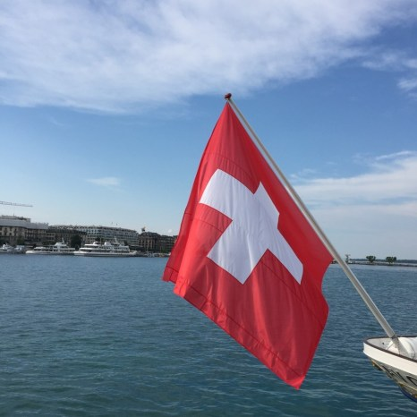 Suisse flag red with white cross