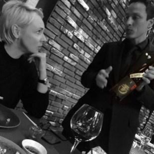 Karin Barnhoorn and Sake sommelier at Taiko Restaurant