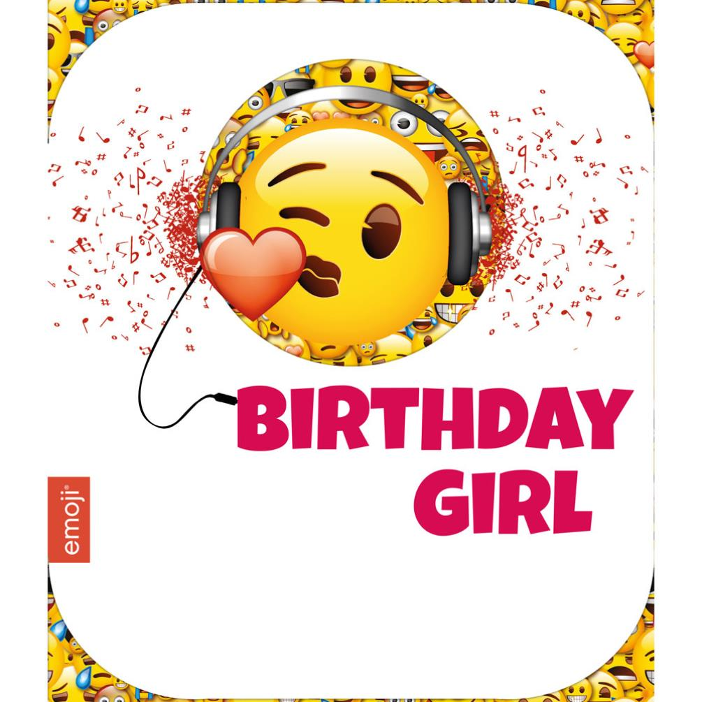 Smiley Birthday Girl Emoji Birthday Card 243918