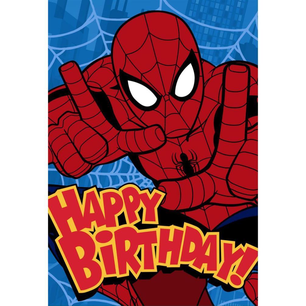 Happy Birthday Spiderman Birthday Card 25470186