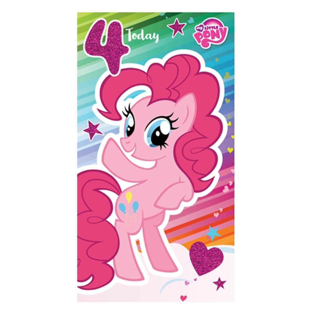My Little Pony 4 Today 4th Birthday Card MP011