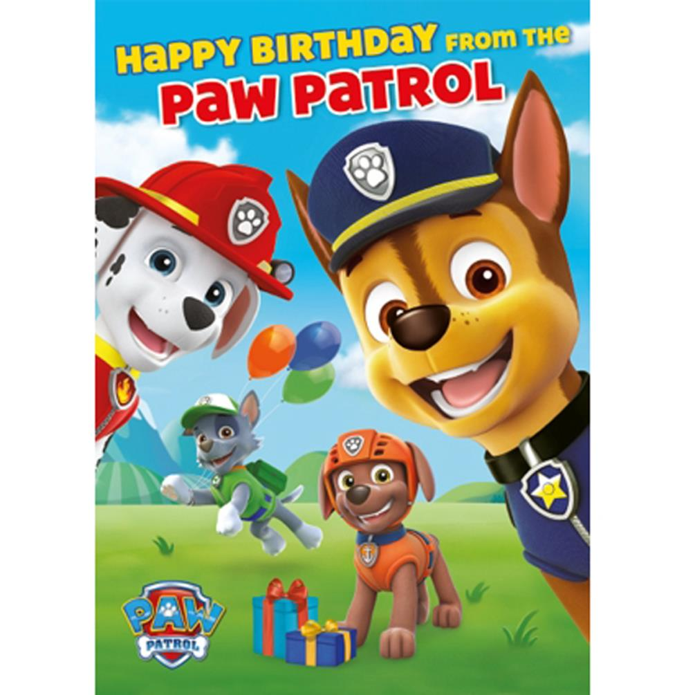 Paw Patrol Birthday Sound Card SC202 Character Brands