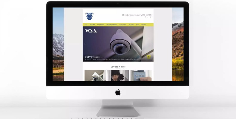 Website Design for White Security Systems in Liverpool