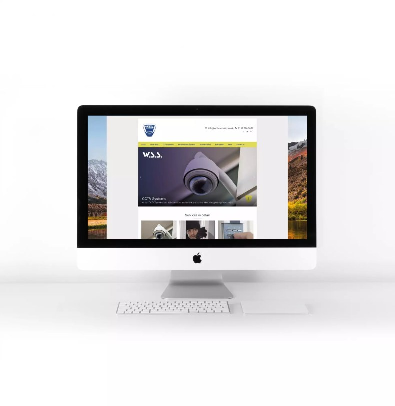 Website Design Liverpool for White Security Systems