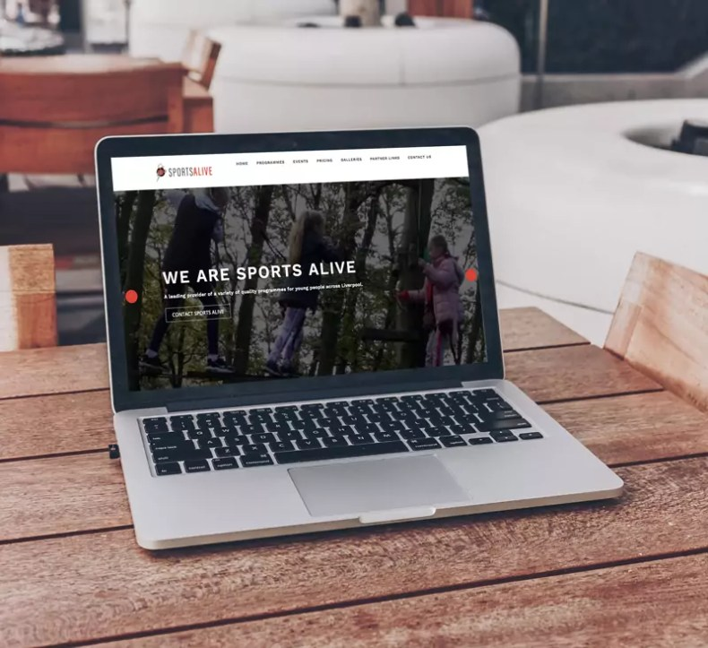 Sports Alive Website Designed by Character Creates