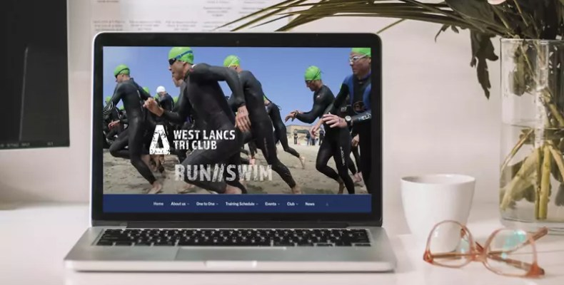 West Lancs Tri Club Website Design by Character Creates