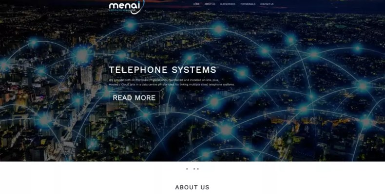 Menai Communications Website Design by Character Creates