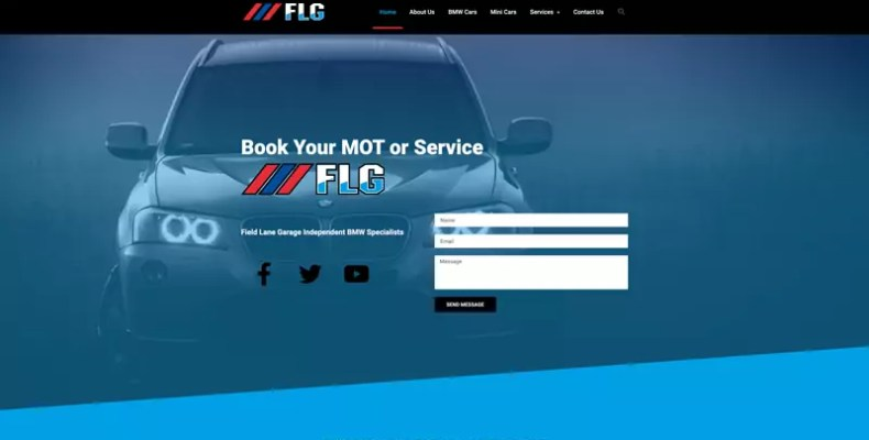 FLG BMW Specialists Website Design by Character Creates