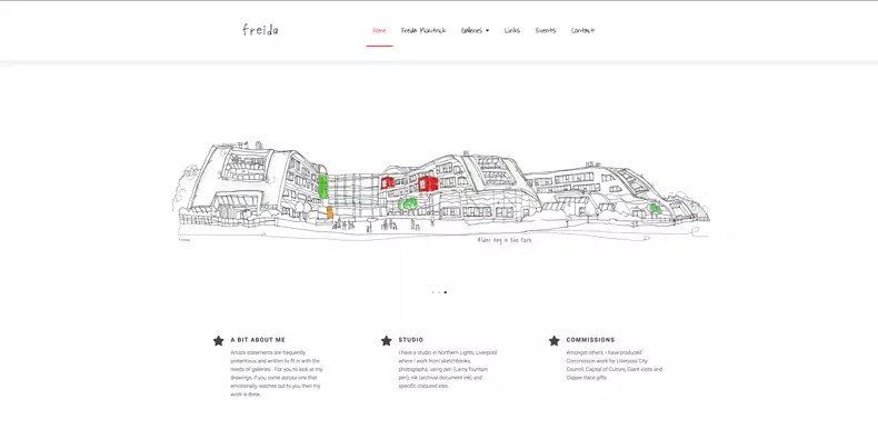 Pen And Wash Website Design by Character Creates