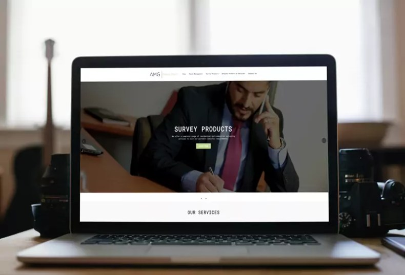 AMG Consultancy Website Design by Character Creates