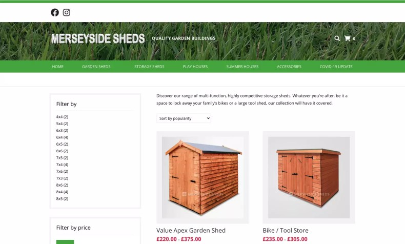 Merseyside Shed Centre new Website by Character Creates Liverpool