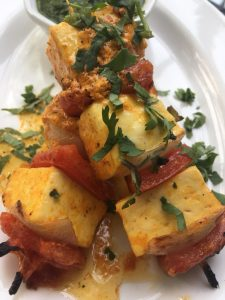 close up paneer - The Patio: Under a Pomegranate Canopy