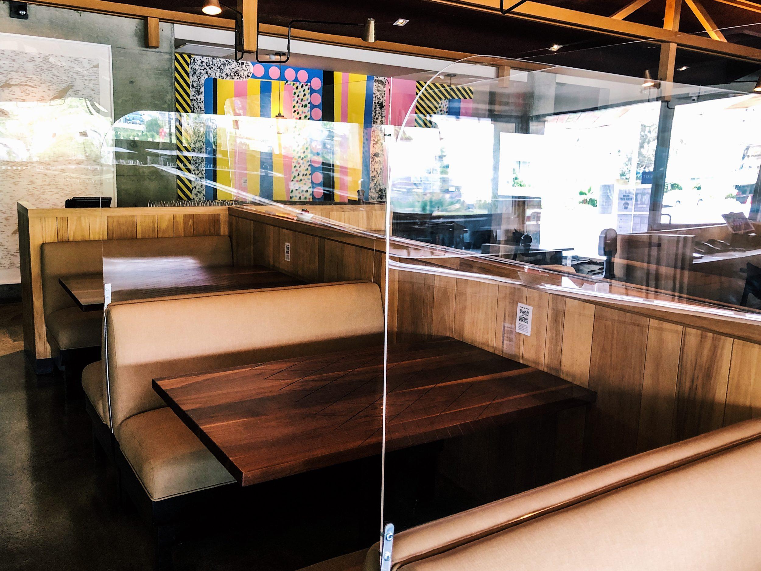 Plexiglass tables