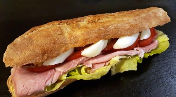 Sandwich Jambon Blanc au Torchon et Crudités