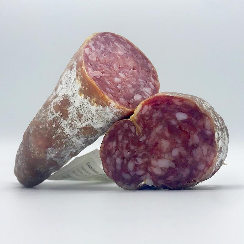 Franse Salami Droge worst met Roquefort van Teyssier Frankrijk