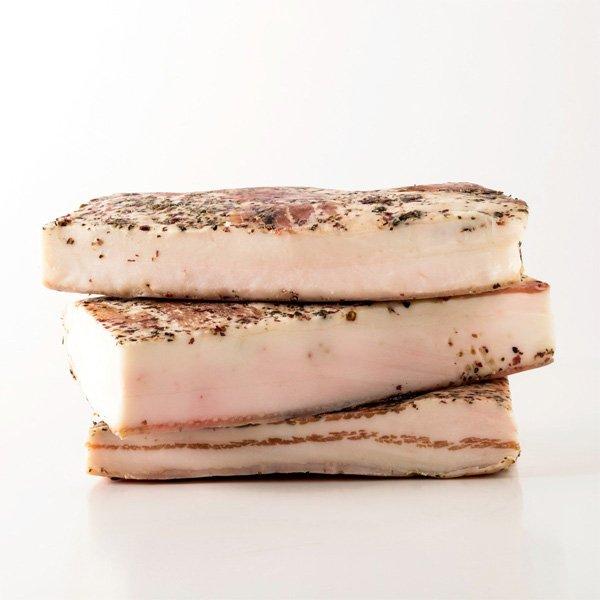 Gedroogde vleeswaren Italie Lardo di Colonnata Toscane