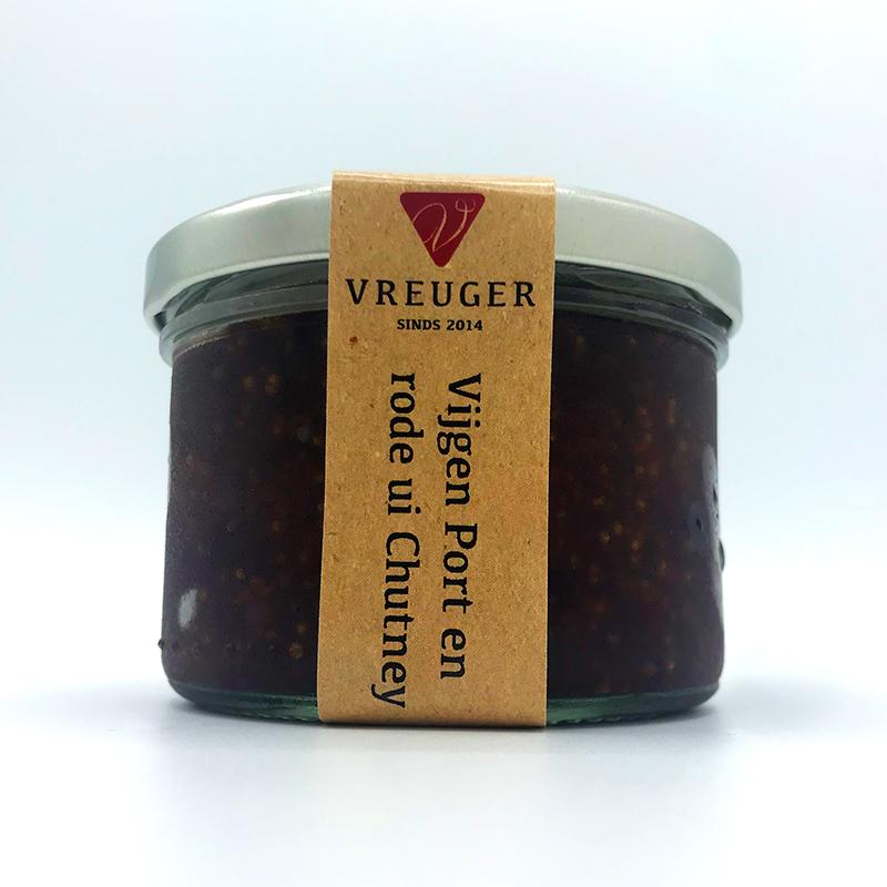 Condimenten tafelganituren tafelzuur Vreuger Vijgen port Uien chutney Uienchutney