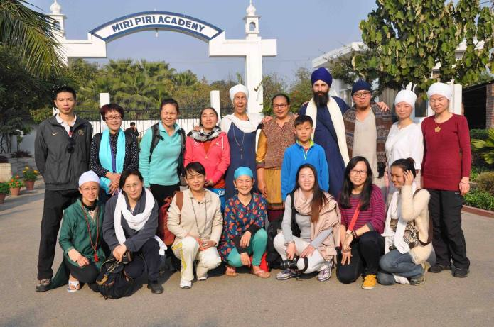 Kundalini Yoga students from China on their yatra to Punjab