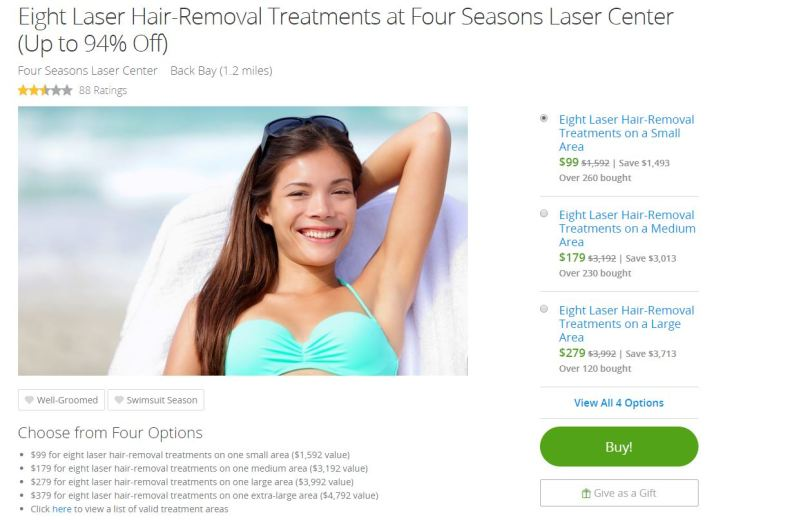 Groupon for Laser Hair Removal